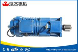 1.5 kw three phase electric motor with reduction gear/three phase crane brake motors