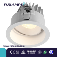 Fullamps deep round shape 10w cob led spot light SAA IC-F C-Tick ce rohs tuv approved commercial lighting led downlight