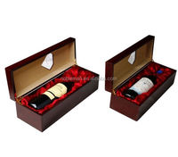 New Born High Fashion Retro Tequila Brands Glossy Mdf Boxes And Red Wine Glasses Carved Camphor Wood Chest