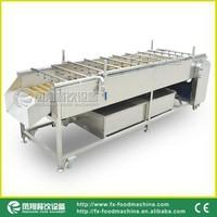 2015 horizontal type fruit washing equipment vegetable washing machine/fruit washing and cleaning machine