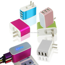 High quality 3.1A 3-Port USB wall charger for iPhone charger