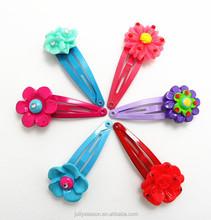CUSTOM Kids hair accessories boutique flower design snap hair clips girl rose daisy hairpin