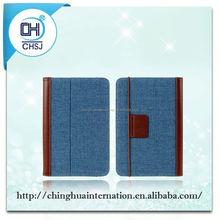 For ipad mini 2 auto sleep wake function hot selling pu leather double-folded case