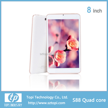 S88 8 inch Capacitive Quad core Tablets PC with WIFI IPS Screen and Dual Camera android 4.4