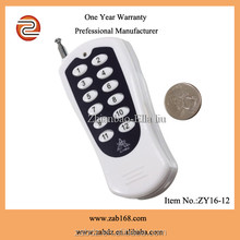 ZY16-12 12V 1km distance 12channel wireless remote control