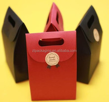 Colorful Kraft Paper Gift Bags Vintage shopping Party Treat Paper Favor Bags