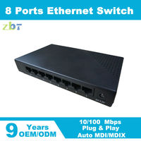 Best Network Switch Brands OEM 8 port managed 10/100Mbps