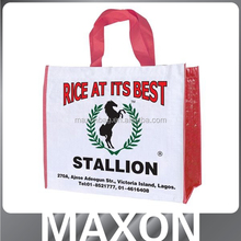 customized custom size laminated non woven grocery tote bag