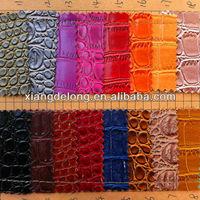 top grade leather The crocodile grain leather pvc pu leather