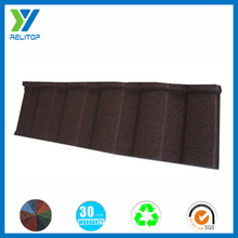 Aluminum/zinc coating steel tile stone chips coated roofing tile