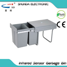 compartment pedal bin stainless steel for cabinet manufacturer plastic trash bag holder