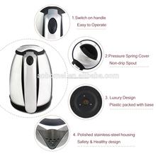 110v bollitore da cucina in acciaio inox bollitore con 360 gradi di rotazione base