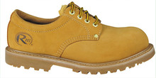 Light tan men's nubuck cow leather safety shoes