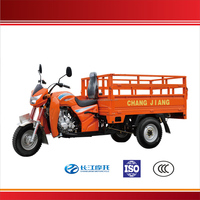 Heavy duty 3 wheel adult motor tricycle for cargo with open cabin