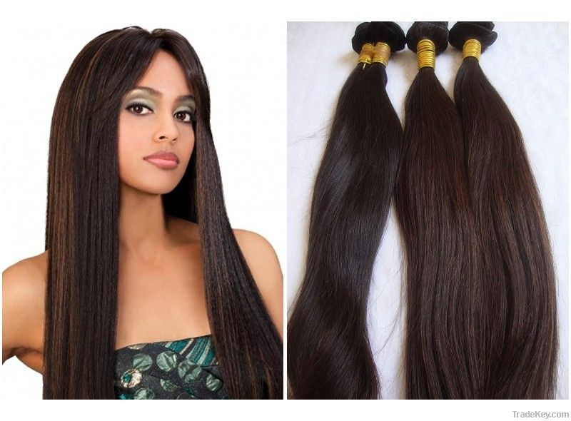 Wholesale Cheap Mongolian 100 Human Hair Sew In Weave Light Brown