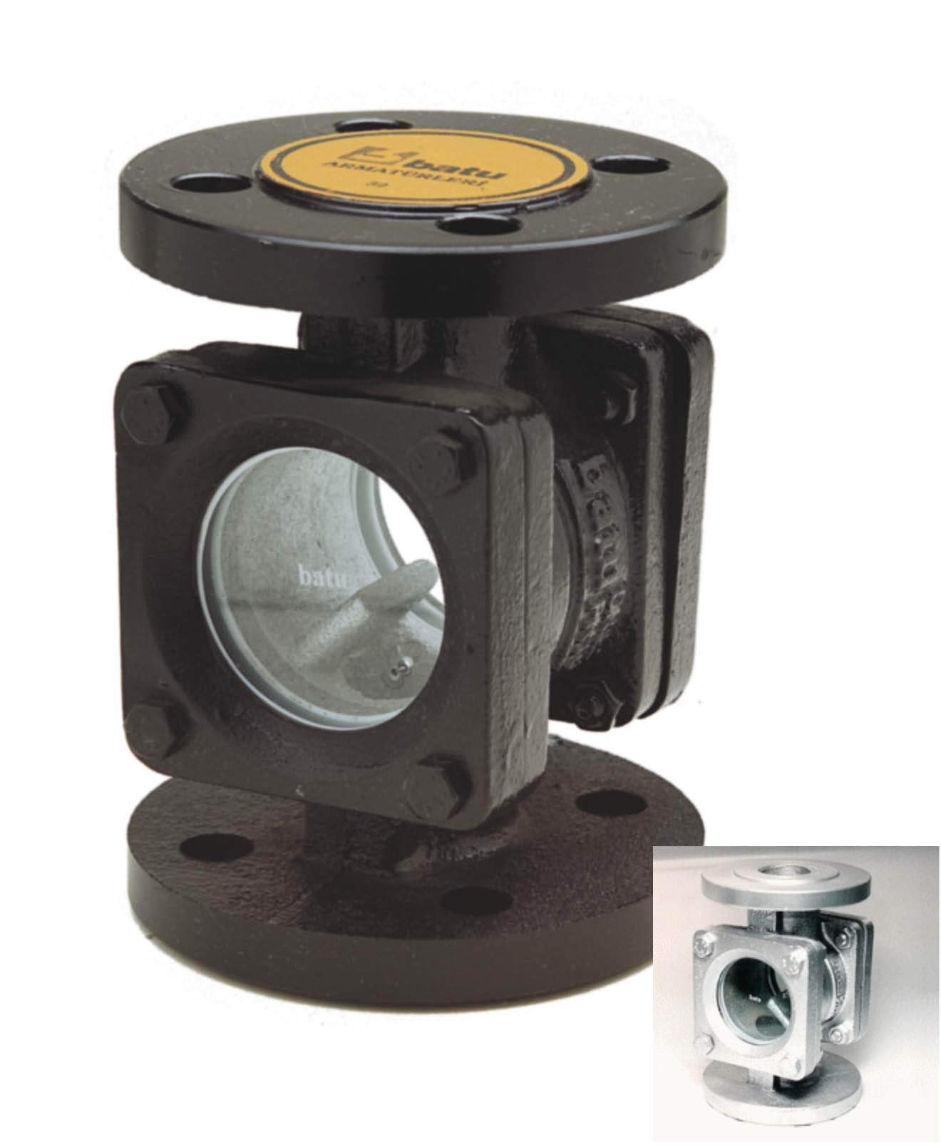 Sight glass flow scope with thread buy