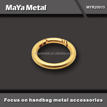 Wholesale zinc alloy /stainless steel / brass o-ring for handbags