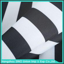 Competitive price 80T stripe PU coated blackout curtain fabric