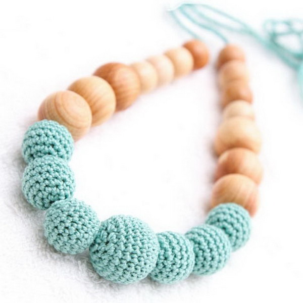 Colored Wooden Bead Necklace Color Wood Bead Necklace