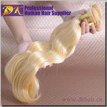 Queenly Remy Virgin hair weave blonde deep curly