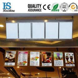 Customized size hot sale led aluminium poster frame