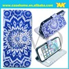 custom printing leather case for iphone 5