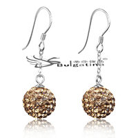 Love You Forever Drop Earring Wholesale Alibaba ER3023 Fashion Jewelry 10mm Crystal Ball