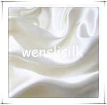 100% silk woven cheap plain dyed satin fabric at price