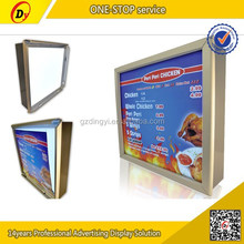 Acceptable customized aluminum wall hanging menu light box sign 2015