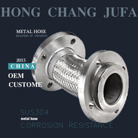2 inch stainless steel bellows metal corrugated hose pipe manufacturer in China