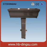 PVC Plastic Rain Gutter, low cost roofing drainage system