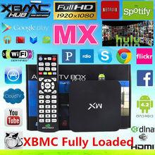 Amlogic 8726 MX TV BOX dual core MX android 4.2 tv box 1gb+8gb XBMC/KODI fully loaded hot add-ons