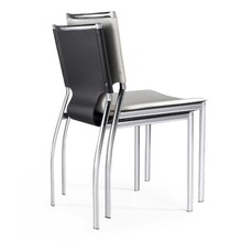 Synthetic leather event rental stackable chair