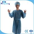 Desechables bata quirúrgica / ropa del Doctor con puño de punto