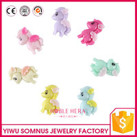 pvc / plastic / resin mobile phone diy accessories the horse plush white pony toy