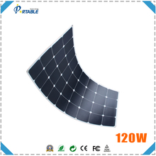 hottest 18V 120w solar charge 23.5% high efficiency sunpower solar recharge with standarded MC4 connctor with much bending angle