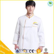 High quality white chef coat uniform on sale