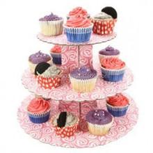 Tiered cardboard cake cupcake stand
