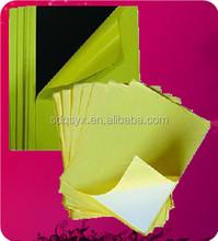 Double side adhesive photo album PVC sheet black