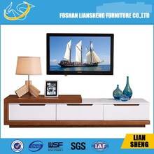 Living room lcd tv stand wooden cabinet units furniture