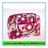 Colorful print ladies Polyester handbag cosmetic small handbag