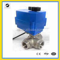 CTF-001 2-way or 3-way brass or stainless steel material 1'' full port electric ball valve 12v 24v for irrigation,water leakage