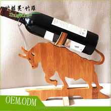 Small kitchen accessary bamboo wine shelves for single wine bottle