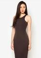 las mujeres de color gris oscuro racer volver nuevo modelo 2014 vestido