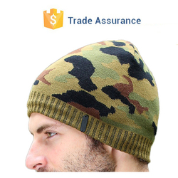 Popular camo hats beanies knitting camouflage pattern hat