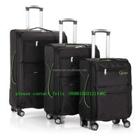 cool leather 2015 new design spinner leisure luggage company