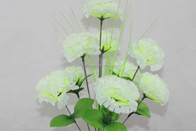 9heads lilac carnation home decoration or funeral using artificial flower