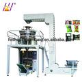Automático completo verticales de gran combinado de pesaje sistema de embalaje para el azúcar, sal, el polvo de gourmet