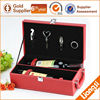 2 Bottle Wine Display Box and Leather wine carrier and Packaging Box