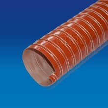Silicone coated double layer fiber glass fabric duct pipe